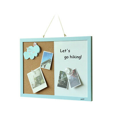 Office Home Kitchen Notice Pin Cork Board Magnetic Whiteboard Combination M0N5