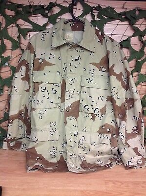 USGI Desert Storm 6 Color Camo Small Long Chocolate Chip Blouse FREE SHIPPING