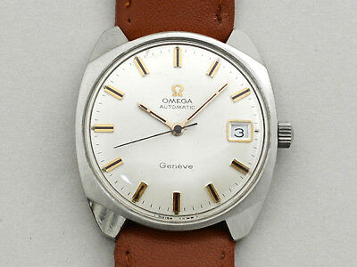 OMEGA Geneve Seamaster Self-winding Wristwatch 1960's Antique From Japan Used