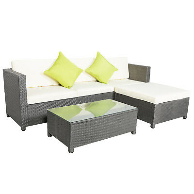 5 Piece Outdoor Patio Sofa Set Sectional Furniture Pe Wicker Rattan Couch Living