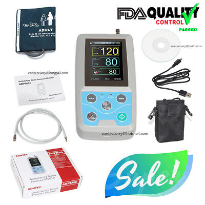 Ambulatory Blood Pressure Monitor 24h NIBP Holter ABPM50, Adult Cuff ,Software