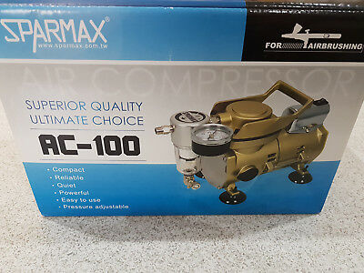 Air Compressor Sparmax AC-100  Set for Airbrushing models, crafts, decorating