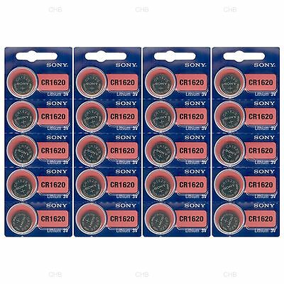 20pcs SONY CR1620 3V Lithium Coin Battery Expire 2028 FRESHLY US FAST SHIPPING
