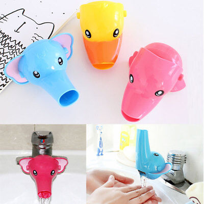 Cartoon Faucet Extender for Kids Children Hand Washing Bathroom Sink