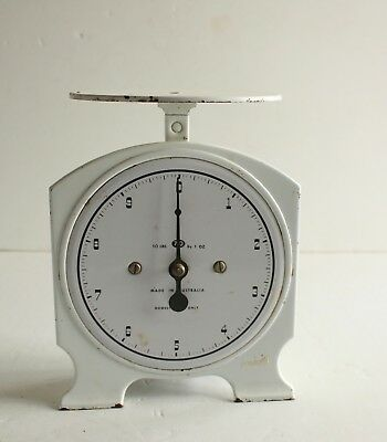 Domestic Scales 10 LBS By 1 OZ White Made in Australia Vintage