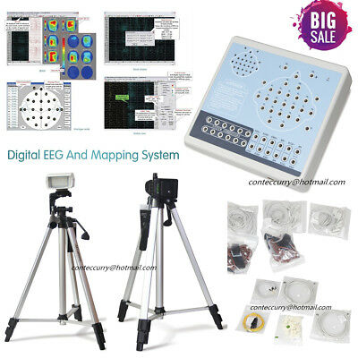 CONTEC EEG machine KT88-2400 Digital 24-Channel EEG and Mapping System+2 Tripods