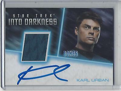 Star Trek Beyond Movie (2017) Karl Urban autograph/relic