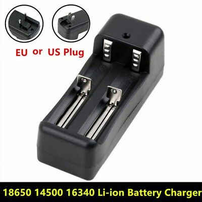 18650 14500 16340 10440 26650 1 or 2 Battery Slots Li-ion Battery Charger