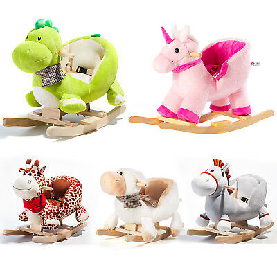 Baby Rocking Horse Animal Rocker Toys Sturdy for Toddlers Kids Nursery Toy Gift