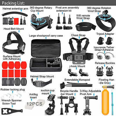 Gopro Outdoor Accessories 50-in-1 Kit Accessory for GoPro Hero 3+ 4 5 2 1 Camera