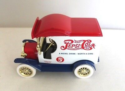 Pepsi Cola Coin Bank 1912 Ford Delivery Car Vintage Style Truck NIB Gearbox