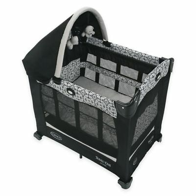 Graco Travel Lite Crib with Stages Portable Bassinet Playard Carry Bag Sutton