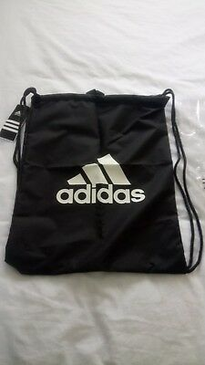 Adidas Performance Logo Sports Gymsack Training Gym Bag Sack Drawstring PE  Tote 3920878f1eee6