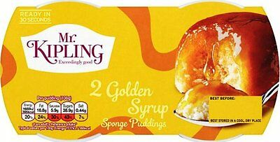 Mr Kipling Sponge Puddings - Golden Syrup (4x2x95g)