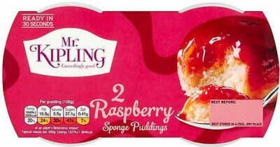 Mr Kipling Sponge Puddings - Raspberry (2x2x95g)