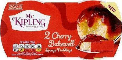 Mr Kipling Sponge Puddings - Cherry Bakewell (2x2x95g)