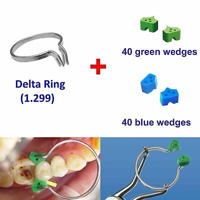 80 Add-On Elastic Silicone Wedges + Delta Ring 1.299 for Dental Matrix TOR VM