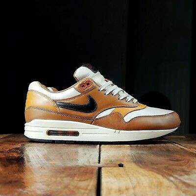 outlet store 77fe3 1ec96 Nike Air Max 1 Escape QS Curry Leather UK 9 Rare Atmos Patta Parra 90 95