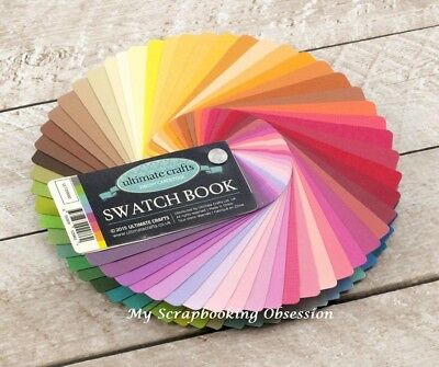 Ultimate Crafts 'CARDSTOCK SWATCH BOOK' 87 colours 216gsm 8.9x4.5cm Card Making