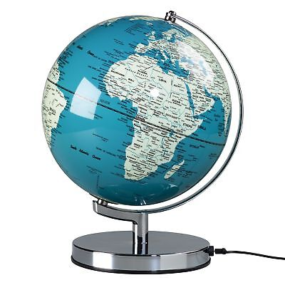 Wild and Wolf 10 inch French Blue Globe Light with UK Plug