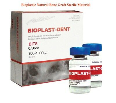 Bioplast Dental Implant Natural Bone Graft Material Bovine Sterile 0.50cc CE