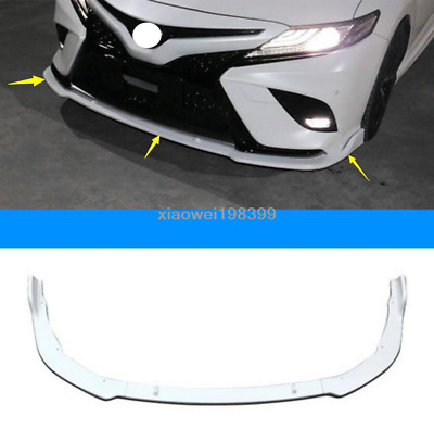 For Toyota Camry 2018-2019 SE / XSE pearl white Front Bumper Lip Cover Trim 3pcs