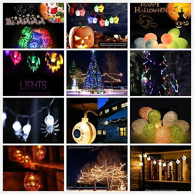 Halloween Garden Solar/Battery String Light LED Fairy String Light Outdoor OZF