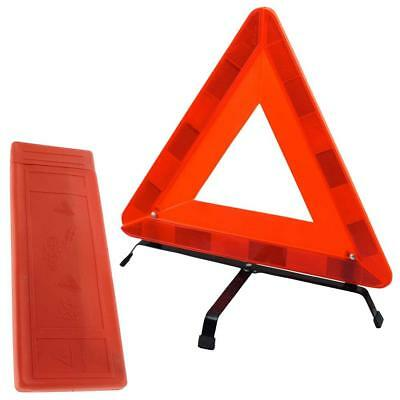 Folding Car Warning Safety Triangle in Protective Plastic Case / Reflective Red