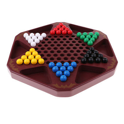 Board Game Hexagon Chinese Checkers Game for 2-6 Players Checkers Chess Set