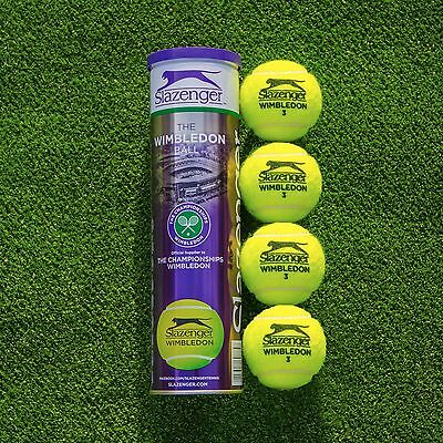 Slazenger Wimbledon Tennis Balls | 4 Ball Tubes | High Vis Balls | Multi Packs