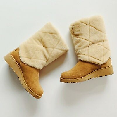 97aa66f29cb UGG LEATHER FUR Baby Sandals Size 6 NEW - $29.00 | PicClick