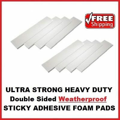 8 Pack Number Plate Double Sided Foam Adhesive Fixing Pad Waterproof Sticky Pads
