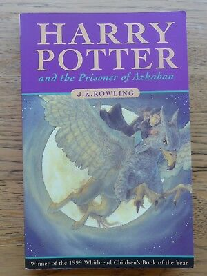 Harry Potter and the Prisoner of Azkaban-J K Rowling 1st paperback edition 1999