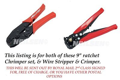 Ratchet Crimping  Set and AUTO Wire stripper Crimp FREE  POSTAGE UK SELLER