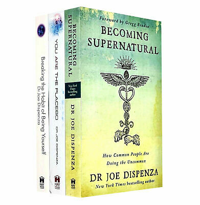 Dr Joe Dispenza Becoming supernatural you are placebo 3 books collection set