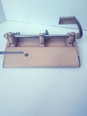 Vintage 3 Hole Punch Heavy Metal Foothill 310 Beige