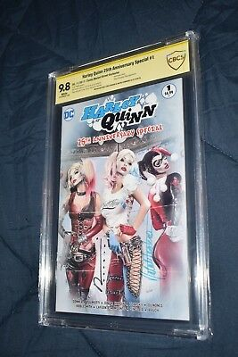 Harley Quinn 25th Anniversary CBCS SS 9.8 2x Signed Hardin & Sanders Variant CGC