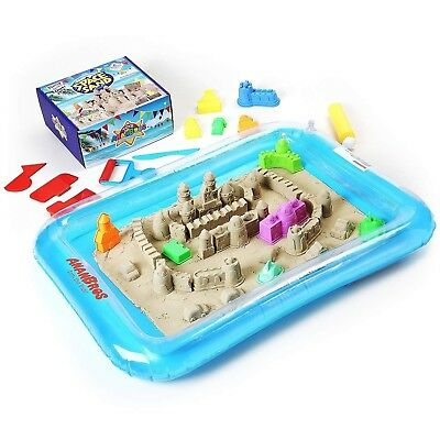 AnanBros Kinetic Play Sand, Magic Space Sand Castle Building Kit, Squeezable...
