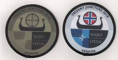 TRIDENT JUNCTURE 2018 Aufnäher/Patch Bundeswehr/Army/Nato/TRJE18/Exercise/Norway