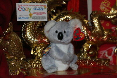 "Ty 2.0 Beanie Baby Aussie The Koala Bear-6""-Unused Code-2008-Mwnmt-Nice Gift"