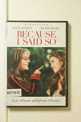 DVD Movie BECAUSE I SAID SO Mandy Moore