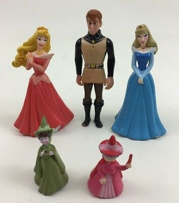 Sleeping Beauty Lot 5pc Toy Figures Cake Toppers Disney Princess Fairy Aurora