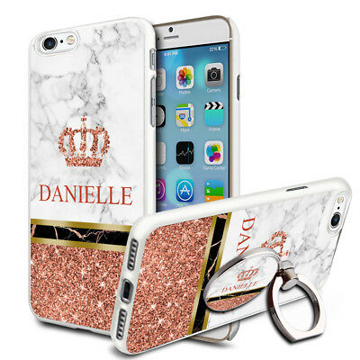 Marble Personalised Phone Case Cover & Ring Stand For Top Mobiles - A89
