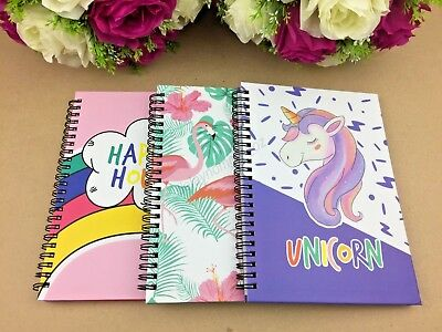 A5 Premium Spiral Notebook Unicorn Flamingo Diary Stationary Note Book Party