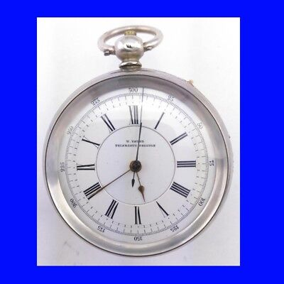 Mint Silver Yates of Preston Slow Beat Fusee Lever Chronograph Pocket Watch 1874