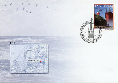 Latvia 2018 FDC Ragaciems Lighthouse 1v Cover Lighthouses Architecture Stamps