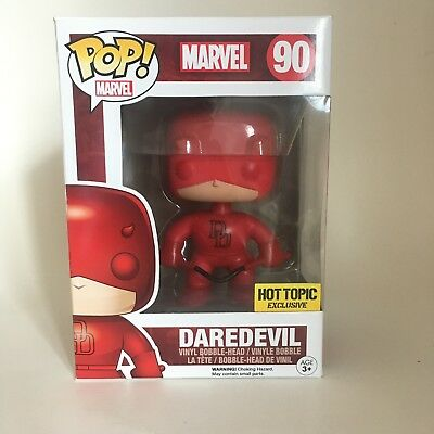 Funko Pop! Marvel DAREDEVIL RED #90 Exclusive To Hot Topic Vinyl Figure New