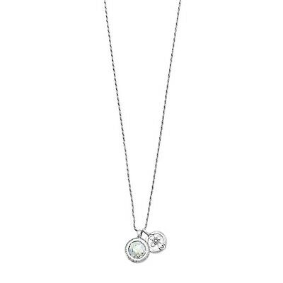 Roman Glass and Cross Charm Necklace Sterling Silver