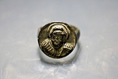 Antique Byzantine Bronze Ring