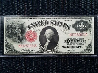 1917 $1 Red Seal United States Note - Large Currency